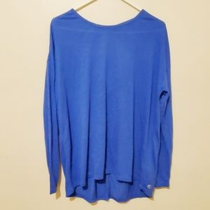 NEW Gaiam Activewear Workout Blue Long Sleeve Top